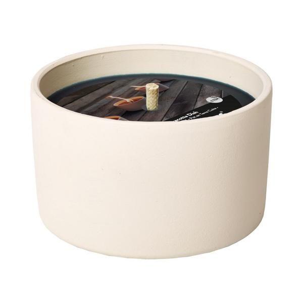 Flammschale Terracotta Weiß 11H
