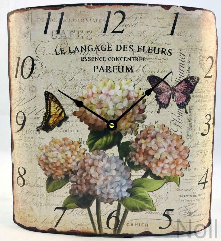 Wanduhr Schmetterlinge