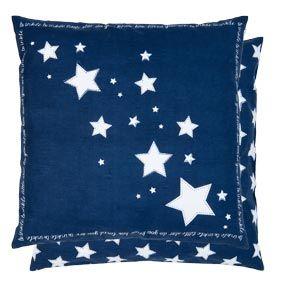 Kissen inklusive Füllung Clayre & Eef Blau 50x50 cm
