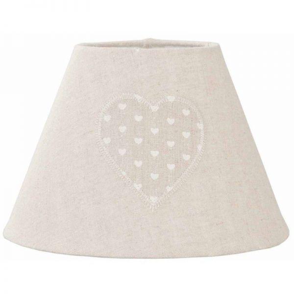 Lampenschirm Clayre & Eef Herz Ø23x16 cm