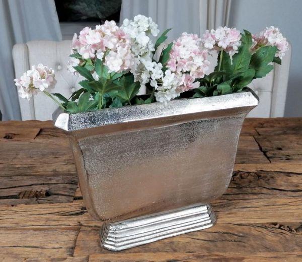 Vase Aluminium Silber 36 cm