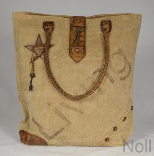 Handtasche Canvas Shopper Colmore Living Stern
