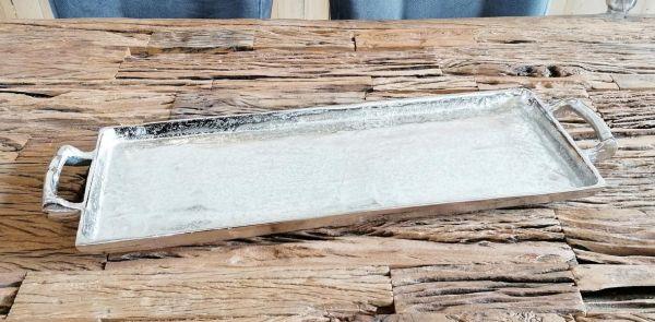 Tablett Silber 65 cm