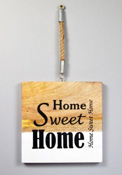 Wandbild Schild Home Sweet Home Holz