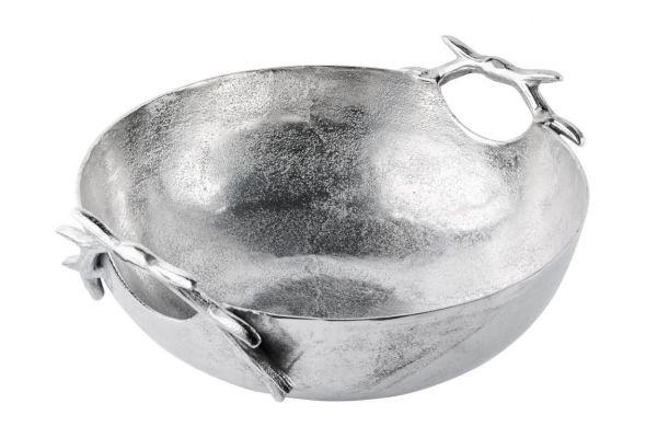 Schale Rund Silber Geweih Metall