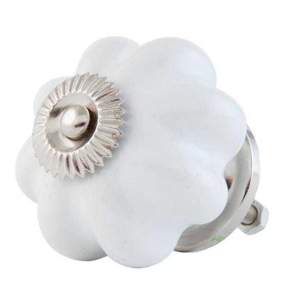 Möbelknauf Weiß Keramik Clayre & Eef - Ø4 cm