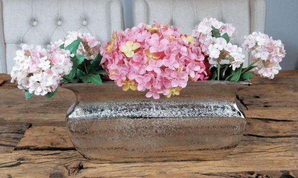 Vase Aluminium Silber 30 cm