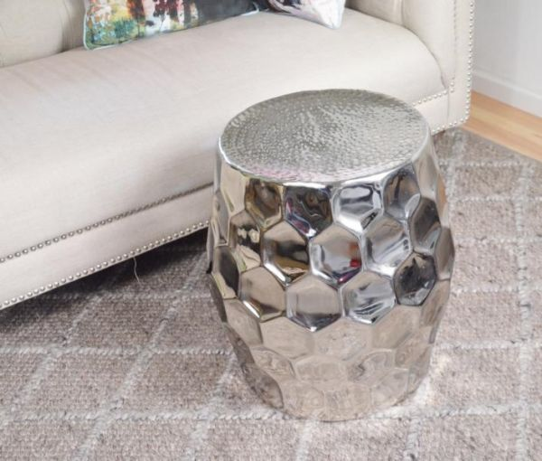 Couchtisch Colmore Beistelltisch Aluminium Silber
