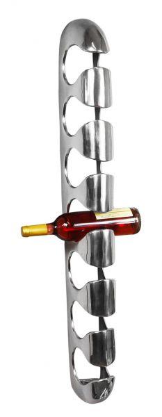 Weinregal Aluminium Wand 7 Flaschen 105 cm