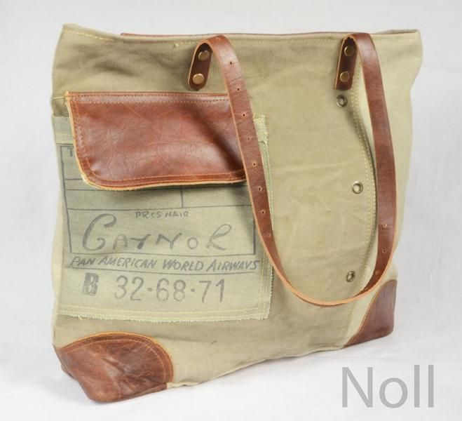 Handtasche Canvas mit Lederapplikationen Gaynor
