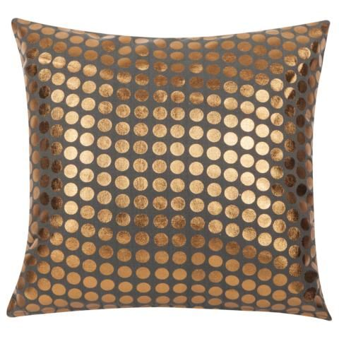 Kissen 2 LIF inklusive Füllung Grau Gold 45x45 cm