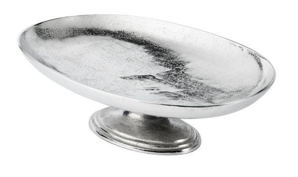 Schale Oval Silber aus Metall Groß