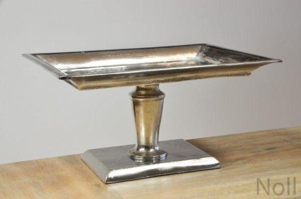 Etagere Standfuß Schale Colmore Silber Aluminium