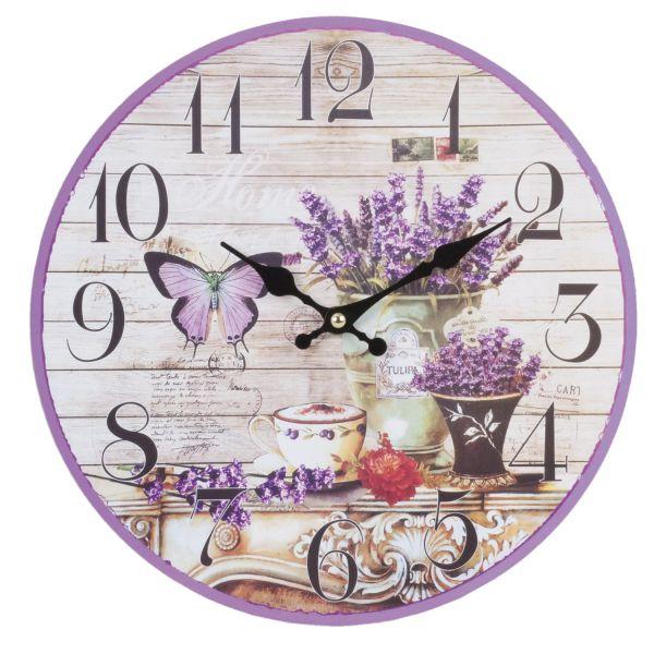 Wanduhr Lavendel Clayre & Eef