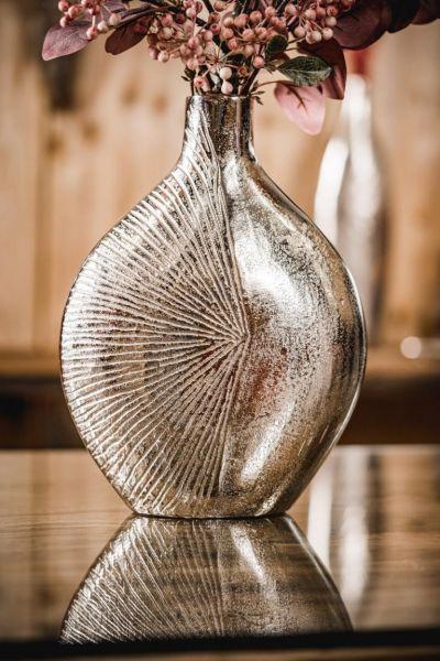 Vase Silber aus Metall