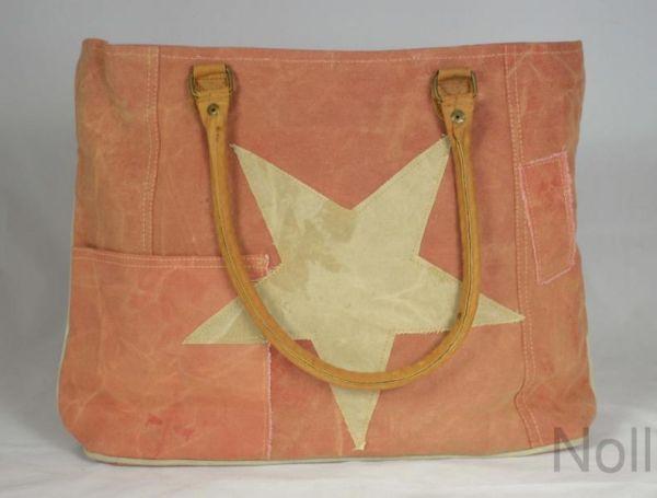 Handtasche Canvas Shopper Colmore Rosa Stern