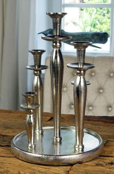 Kerzenständer 5-Armig Silber Raw