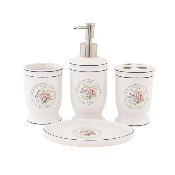 Badset Clayre & Eef Blumen Keramik