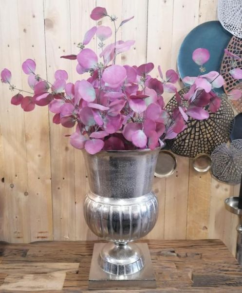 Vase Aluminium Silber Bodenvase H 46 cm