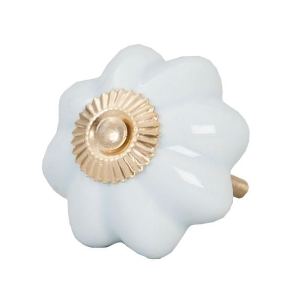 Möbelknauf Keramik Clayre & Eef Weiß Ø4 cm