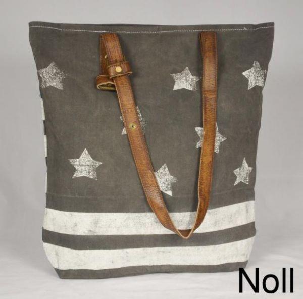 Handtasche Canvas Shopper Colmore Kleine Sterne