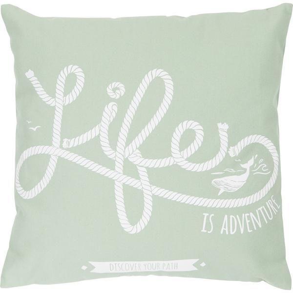 Kissen LIFE 2LIF Mintgrün inklusive Füllung 47x47 cm