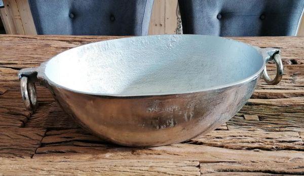 Schale XL Silber Aluminium 50 cm