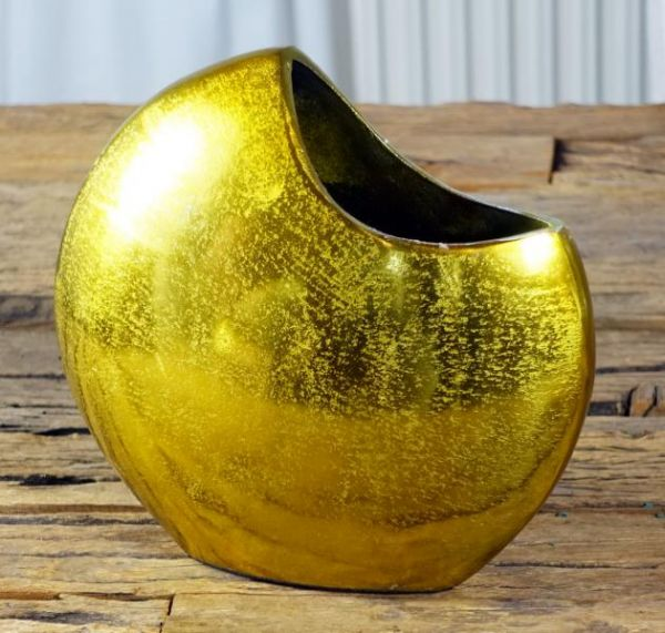 Vase Aluminium Gold H 21 cm