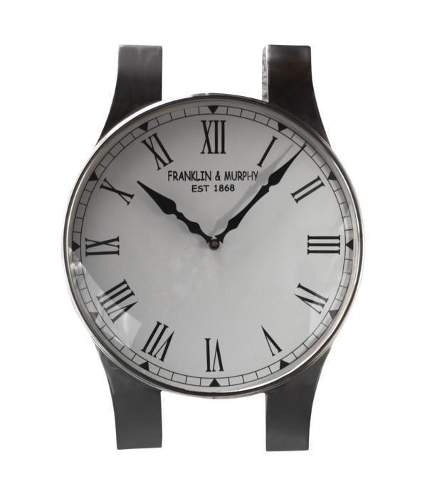 "Wanduhr ""Armbanduhr"" Silber"