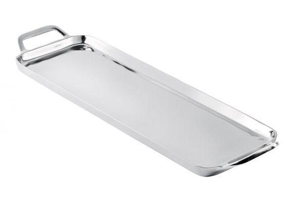 Tablett Silber Länglich aus Metall