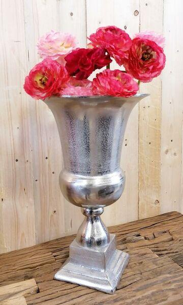 Vase Pokalvase Silber 49 cm