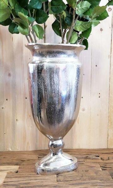 Vase Silber Oval 53 cm