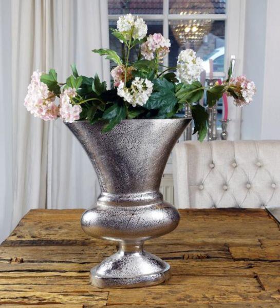 Vase Aluminium Silber L 37 cm