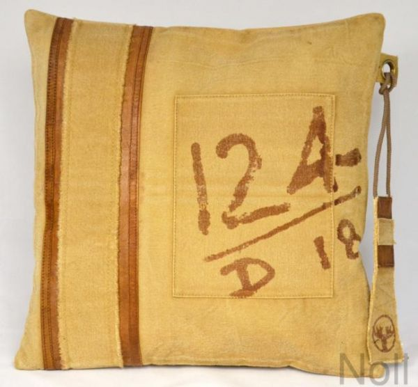 Kissen inklusive Füllung Leder 40x40 cm