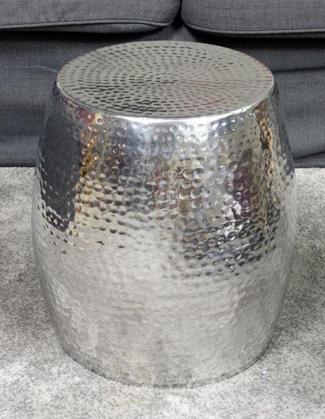 Couchtisch Aluminium Silber 40 cm