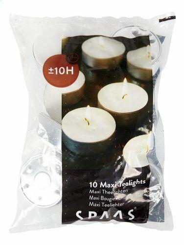 Maxi-Teelichter 10er Beutel 10 h