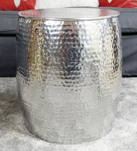Couchtisch Aluminium Silber XL 42x42x47 cm