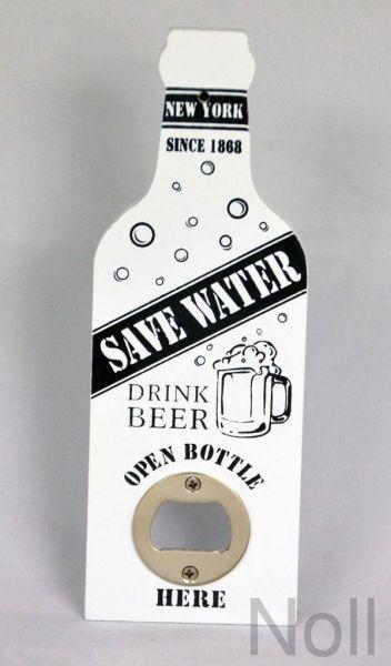 Wandflaschenöffner Save Water Weiß