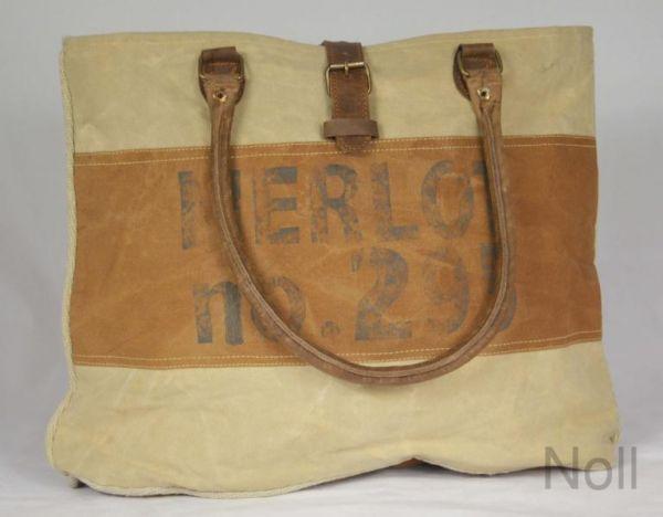 Handtasche Canvas Shopper Colmore Merlot