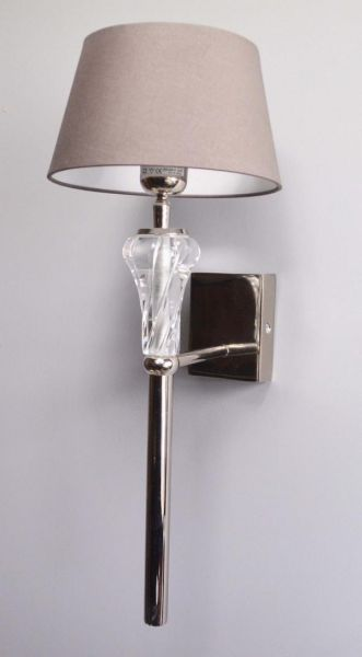 Wandlampe Colmore inklusive Lampenschirm Silber Luxus