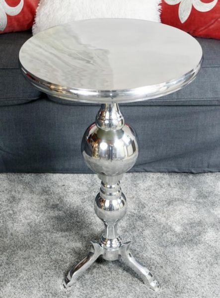 Beistelltisch Aluminium Silber poliert 66 cm