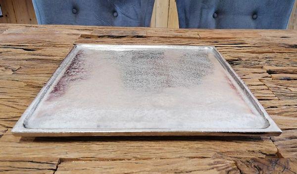Dekoplatte Dekoteller Silber 35 cm