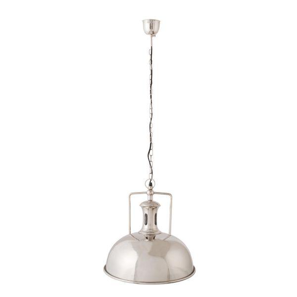 Deckenlampe Clayre & Eef Rund Silber Metall