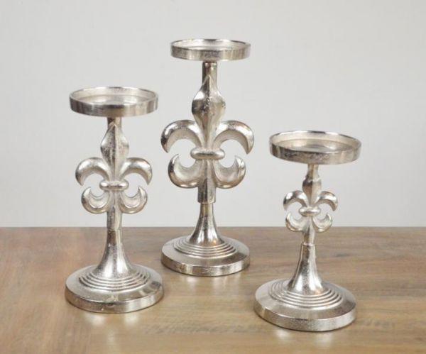Kerzenständer Lilie Aluminium in Größe S, M und L