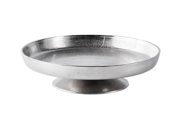 Schale / Dekoschale Rund Silber aus Metall (Aluminium)