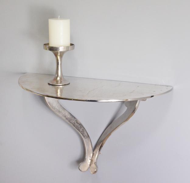 wandkonsole konsole wandregal aluminium silber colmore massiv 40 cm ebay. Black Bedroom Furniture Sets. Home Design Ideas