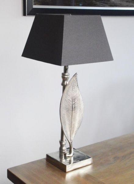 Tischlampe Blatt Aluminium Silber Colmore